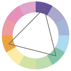 triadic color palette color wheel