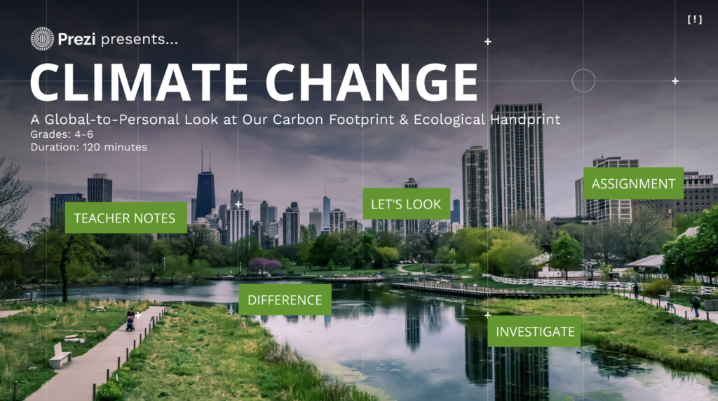 Climate Change: A Global-to-Personal Look at our Carbon Footprint and Ecological Handprint (Grades 4-5)