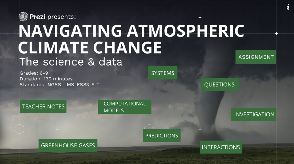Navigating Atmospheric Climate Change: The Science and the Data (Grades 6-9)